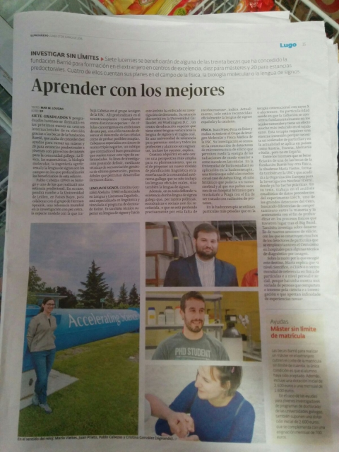 Photo from the newspaper 'El Progreso' where Pablo has done an interview